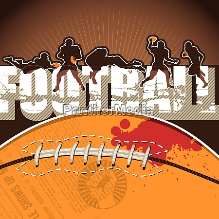 football background with designed artwork