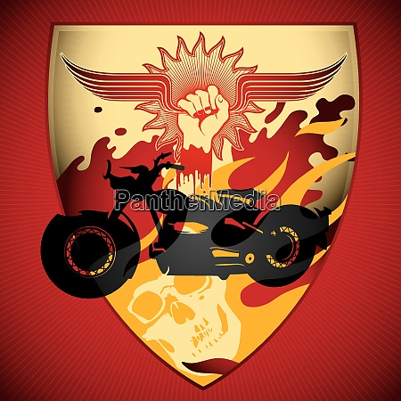 illustrated motorcycling background