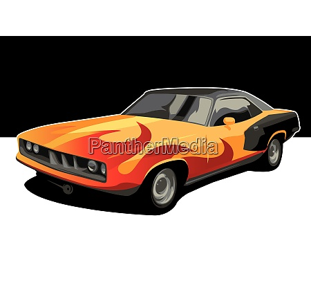 muscle car background