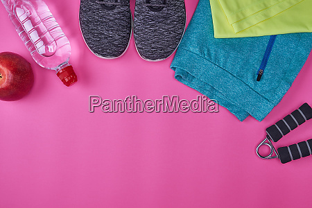 womens sportswear and fitness items on