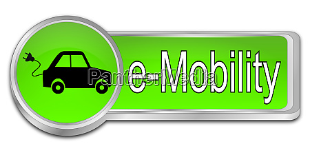 green e mobility button 3d