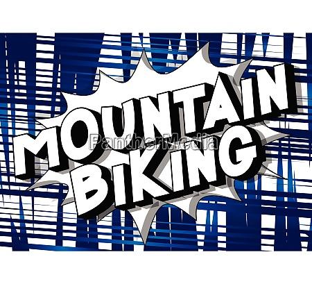 mountain biking comic book style