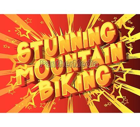 stunning mountain biking comic book
