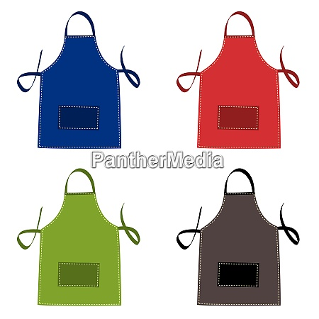 cooks apron collection in bright colours