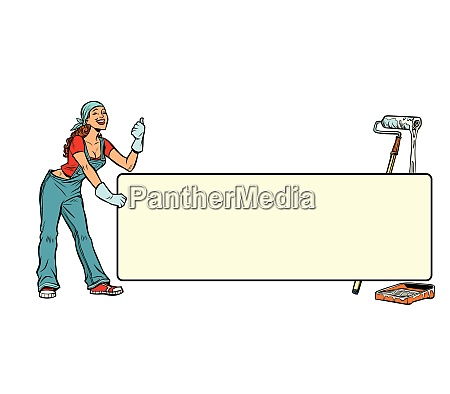 poster banner professional work woman painter