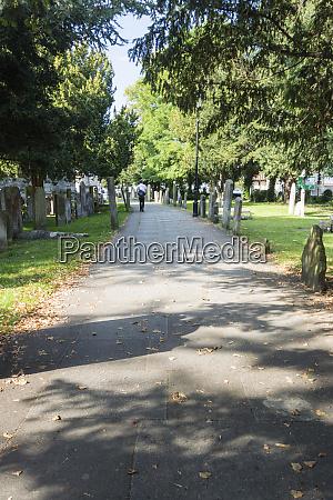 all saints churchyard maidstone kent uk