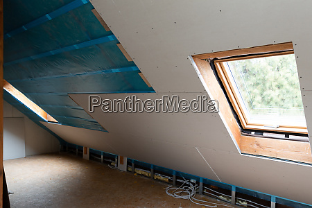 house attic insulation and renovation drywall