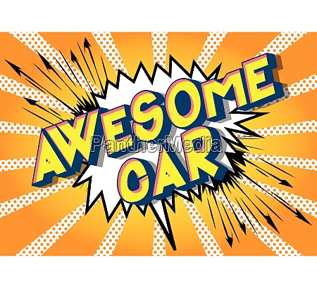 awesome, car, -, comic, book, style - 26457045