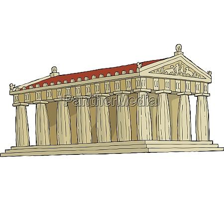 the parthenon on a white background