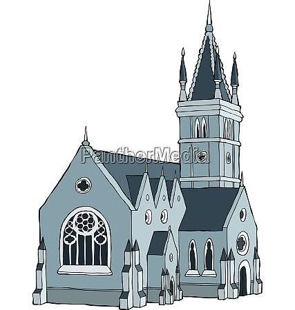 gothic castle on a white background