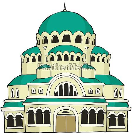 the byzantine church on a white