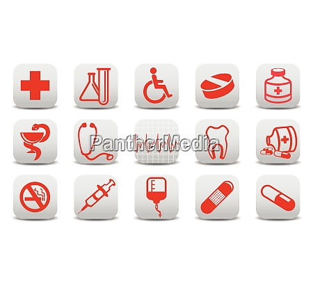 vector illustration of medecine icons you