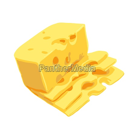 piece of cheese isolated on a