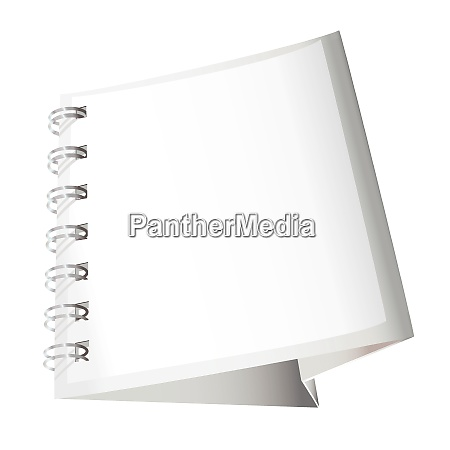 white blank calendar with spiral metal