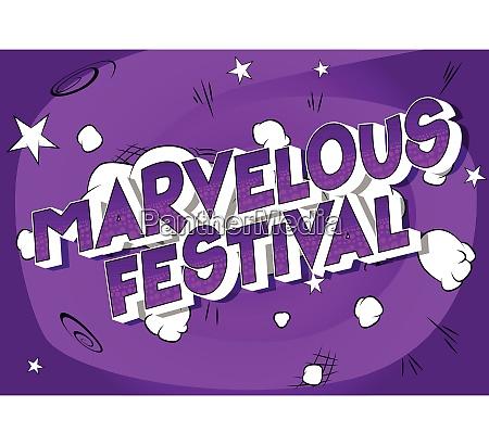 marvelous festival comic book style