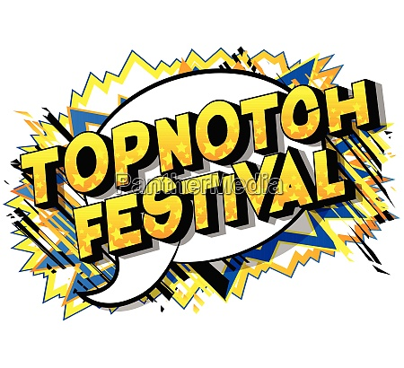topnotch festival comic book style