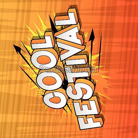 cool, festival, -, comic, book, style - 26463825