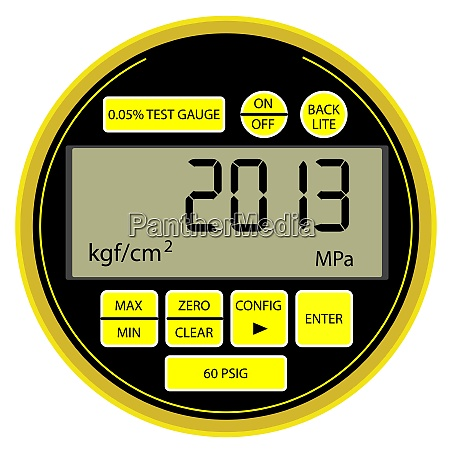 2013 new year modern digital gas