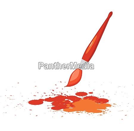 vector illustration of red spots
