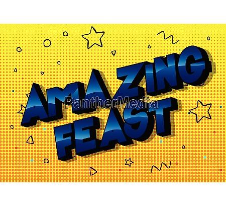 amazing feast comic book style