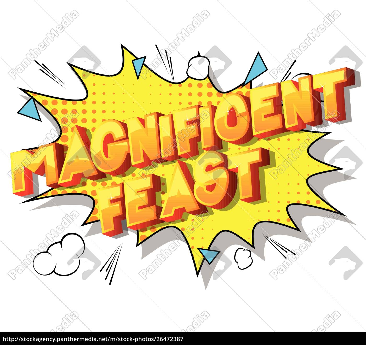 magnificent, feast, -, comic, book, style - 26472387
