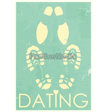 dating rendezvous of lovers retro grunge