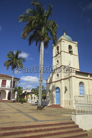 church on central square vinales town