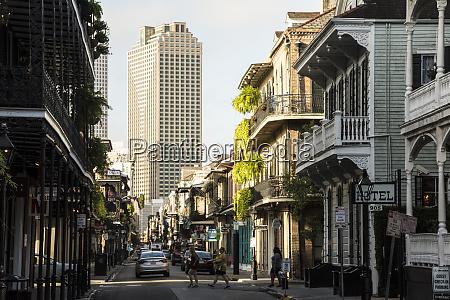 bourbon street in french quarter of