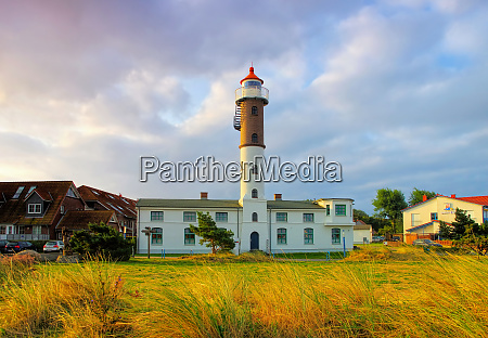 the lighthouse in timmendorf on the
