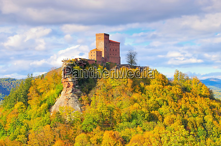 castle trifels in palatinate forest germany