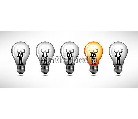 man inside lightbulb