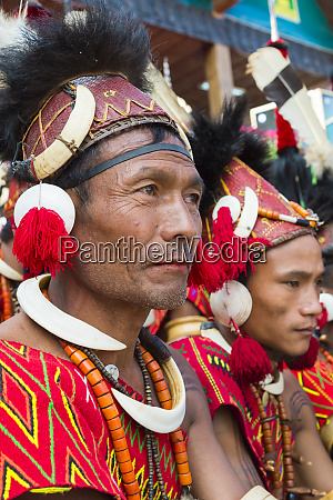 naga tribal men in traditional clothing