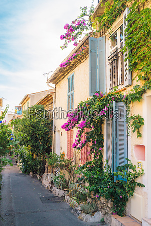 picturesque small alleyway in antibes cote
