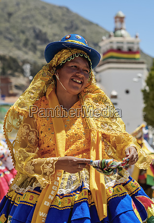dancer in traditional costume fiesta de