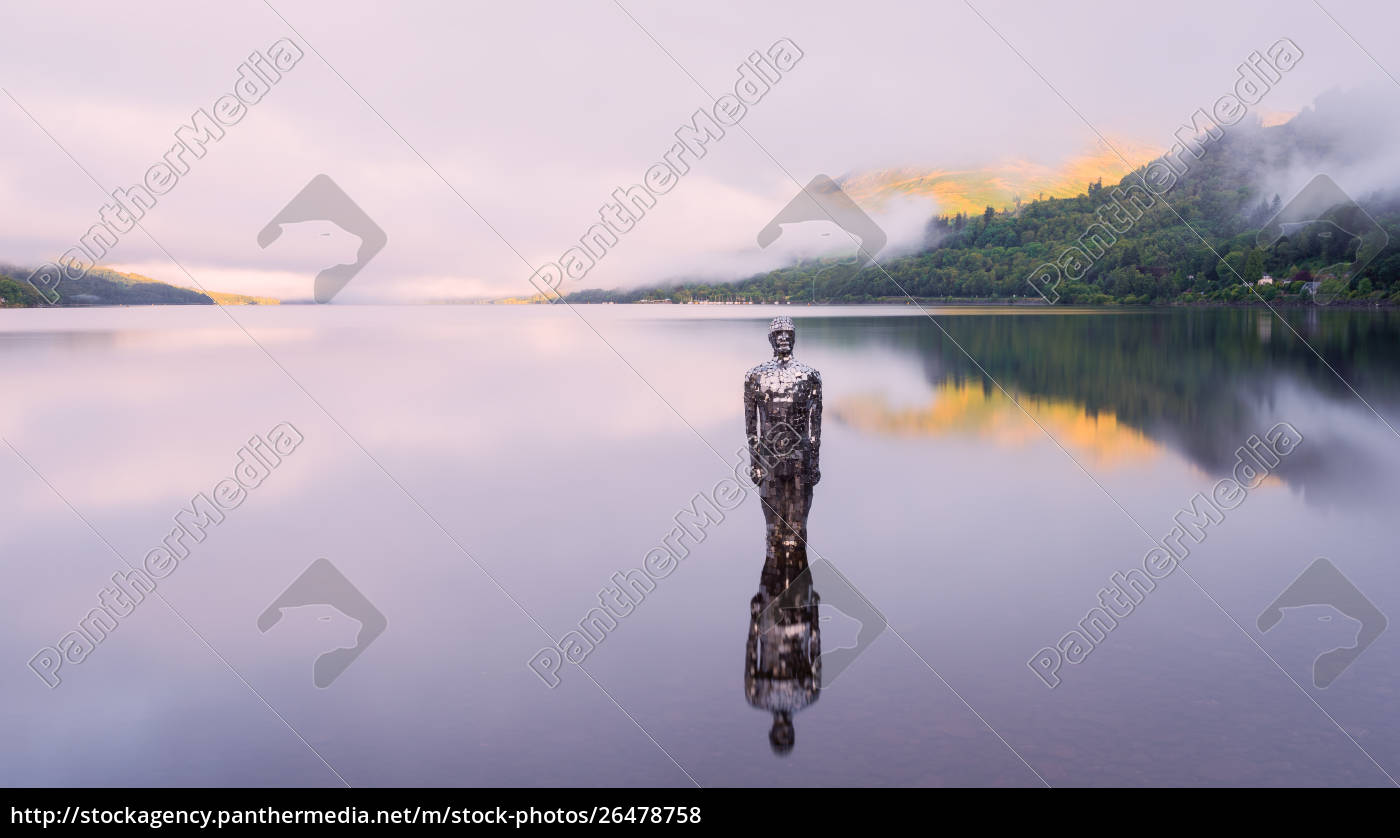 the, mirror, man, , loch, earn, , highlands, - 26478758