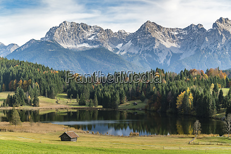 lodges with gerold lake and karwendel