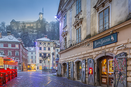 view from old town streets toward