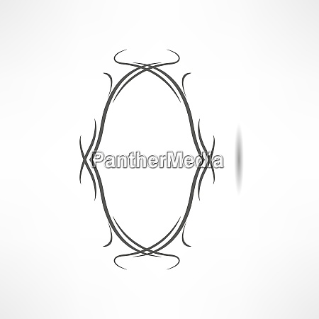 calligraphic design element