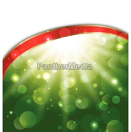 illustration abstract card with bokeh effect
