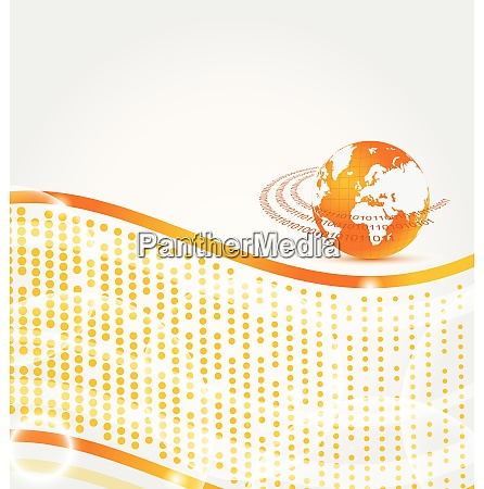 illustration abstract company card with earth