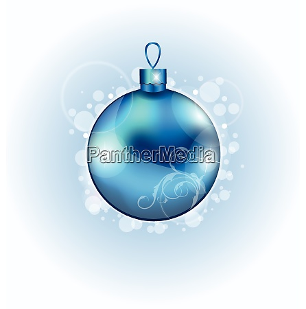 illustration christmas blue ball with sparkle
