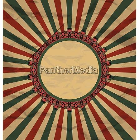 illustration retro vintage grunge label on