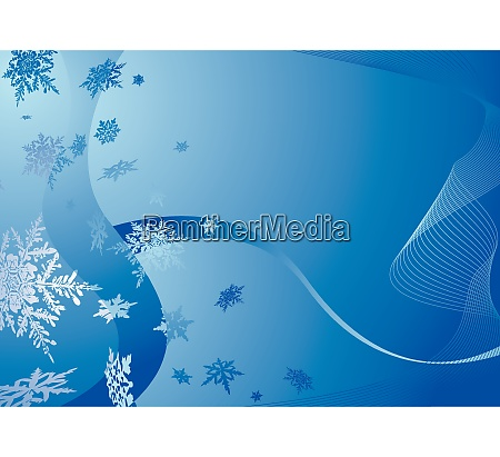 modern blue christmas background with falling