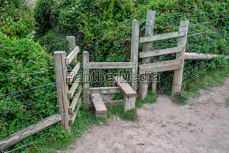 typical wooden stile in cornwall that