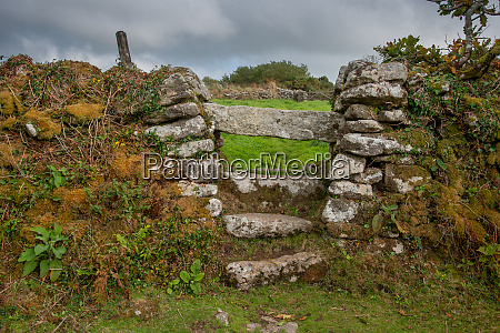 typical stone stile in cornwall that
