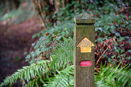 single signpost without location picture taken