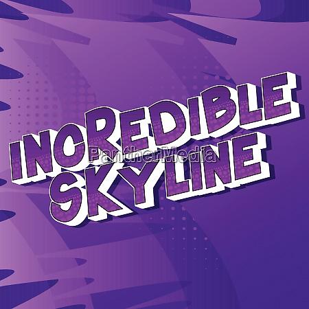 incredible, skyline, -, comic, book, style - 26486364