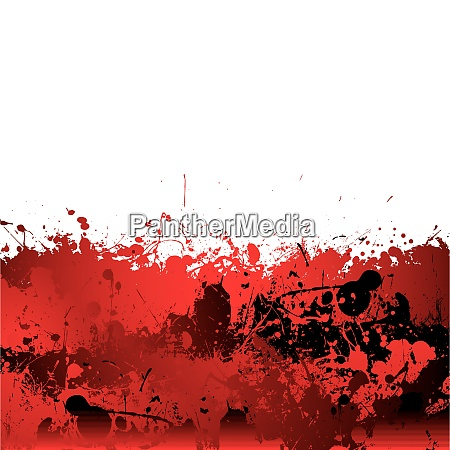 red blood splatter background with dribble