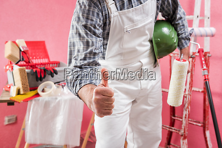 professional house painter in the construction
