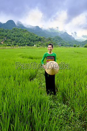 local white tai indigenous woman in